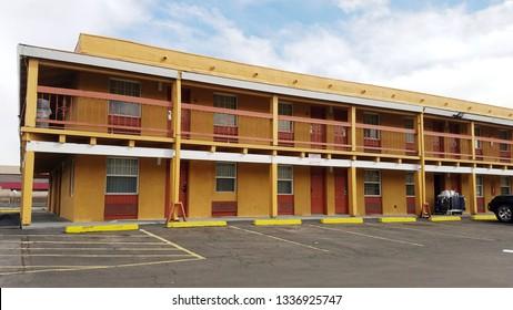 Denver, Colorado - March 12, 2019: Motel Building
