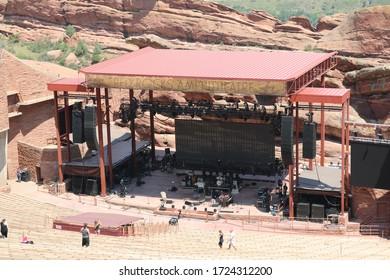 Denver, Colorado / USA – August 4, 2018 :  Red Rock Amphitheater
