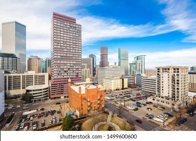 Denver, Colorado, USA downtown cityscape in the afternoon.