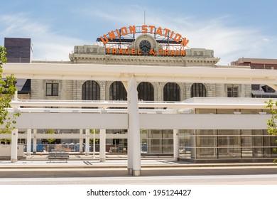 Denver, Colorado/ USA-26 May, 2014: Progress of redevelopment of Union Station in Denver.