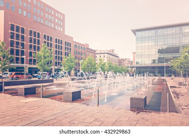 Denver, Colorado, USA-June 1, 2016. View of the Denver Unon Station from Wynkoop Street in the Summer.