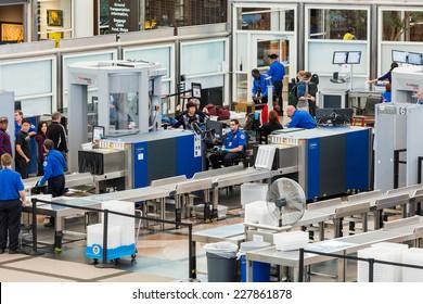 Denver, Colorado, USA-November 2, 2014. Denver International Airport on typical Sunday morning.
