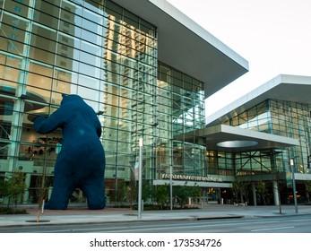 Denver, Colorado-April 22, 2012: Colorado Convention Center at sunrise.