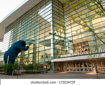Denver, Colorado-April 22, 2012: Colorado Convention Center at sunrise.