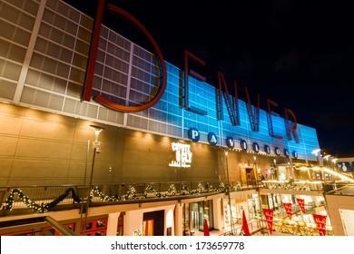 Denver, Colorado-December 16, 2012: 16th Street Mall in Denver during the Christmas season.