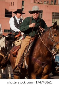 Denver, Colorado-January 5, 2012: Annual  National Western Stock Show Parade, travels up 17 Street.