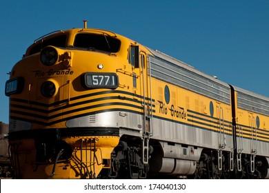 Denver, Colorado-November 29, 2011: Denver and Rio Grande Western no. 5771 passenger train between denver and Salt lake City from 1971 to 1983.