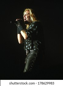 DENVERDECEMBER 18:Vocalist Vince Neil of the Heavy Metal band Motley Crue performs in concert December 18, 1998 at Mammoth Arena in Denver, CO.