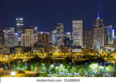 Denver downtown panorama, Colorado, USA