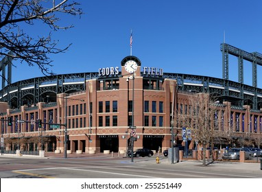DENVER - FEBRUARY 9: Coors Field in Denver, Colorado on February 9, 2015. Coors Field is a ballpark and the home field of Major League Baseball's Colorado Rockies.