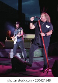 DENVERJULY 02:Vocalist Johnny Van Zant of the Southern Rock Band Lynyrd Skynyrd performs in concert July 24, 2002 at Red Rocks Amphitheater in Denver, CO.