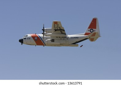 DENVER - June 7: US Coast Guard C-130 drops a life raft at the Rocky Mountain Metro Airport Open House on June 7, 2008 in Denver, CO.