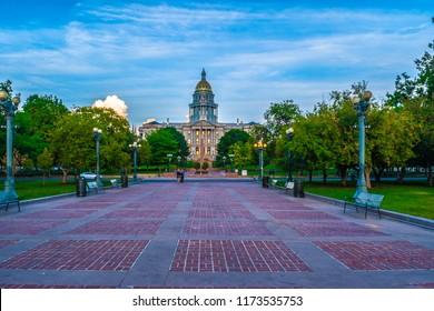 Denver Landmark in the Day