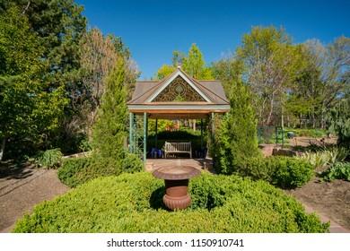 Denver, MAY 5: The beautiful Denver Botanic Gardens on MAY 5, 2017 at Denver, Colorado