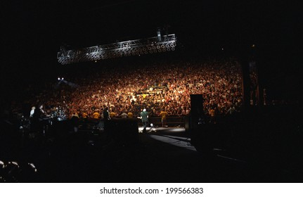 DENVER - MAY 6: Heavy metal band Godsmack performs in concert May 6, 2000 at Red Rocks Amphitheater in Denver, CO.