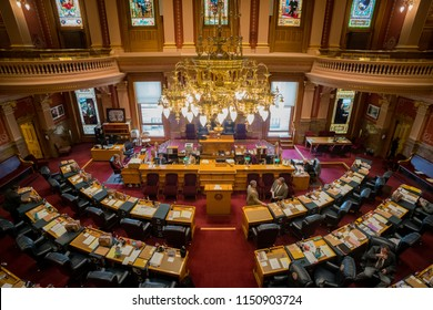 Denver, MAY 8: Interior view of the historical Colorado State Capitol on MAY 8, 2017 at Denver, Colorado