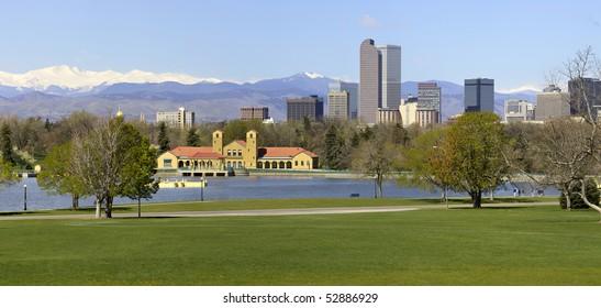 Denver Skyline from City Park. Spring 2010.