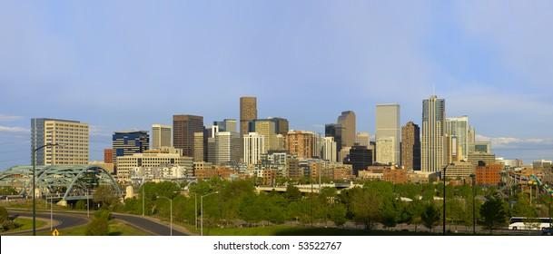 Denver Skyline Spring 2010. Late afternoon.