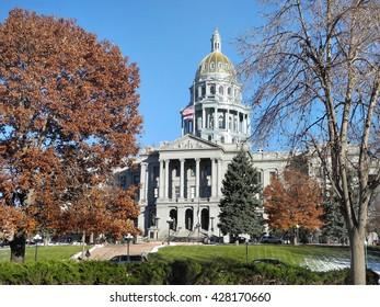 Denver, USA - 2, Dec. 2015: The City and County of Denver, The Public Library, Denver, Colorado, USA.