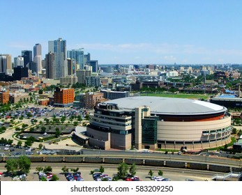 DENVER, USA - JULY, 3: Pepsi Center Arena on July 3, 2013  in Denver, USA. The arena is home to Denver Nuggets of NBA, Colorado Avalanche of NHL and Colorado Mammoth of the National Lacrosse League.