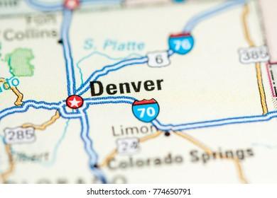 denver usa on a map
