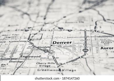Denver USA travel map background