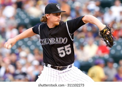 DENVER-AUG 21: Colorado Rockies pitcher Jon Gray pitches during a game against the New York Mets at Coors Field on August 21, 2015 in Denver, Colorado.