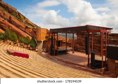 DENVER-COLORADO: July 21, 2012: Red Rocks Amphitheater.Famous Historic Red Rocks Amphitheater near Denver, Colorado, .