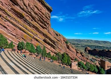 DENVER,COLORADO,AMERICA - OCTOBER 22,2017:Red Rocks amphitheater - just outside of Denver,Colorado,United States of America.