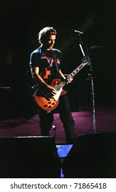 DENVER-MAY 6: Gavin Rossdale, vocalist & guitarist of the alternative rock band Bush, performs in concert May 6, 2000 at Red Rocks Amphitheater in Denver, CO.