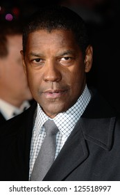 Denzel Washington arriving for the UK premiere of 'Flight' at Empire Leicester Square, London. 17/01/2013 Picture by: Steve Vas