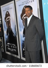 "Denzel Washington at the Los Angeles premiere of his new movie ""Flight"" at the Cinerama Dome, Hollywood. October 23, 2012  Los Angeles, CA Picture: Paul Smith"