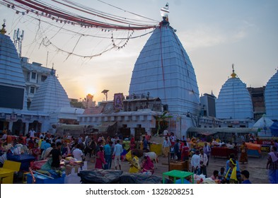 DEOGHAR, JHARKHAND INDIA- NOVEMBER 2018: The  Famous Jyotirlinga temple in Deoghar. The temple town is getting urbanized at a fast pace.