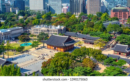 deoksugung palace in seoul city south Korea