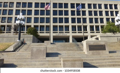 Department of Labor building in Washington DC, USA