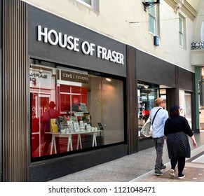Department Store Chain House Of Fraser in financial difficulty, Hampshire, June 2018