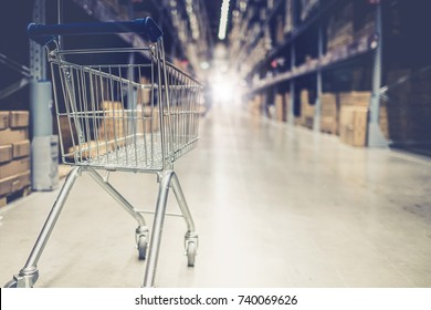 department store with shopping cart vintage style