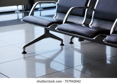departure lounge at the airport, waiting chairs