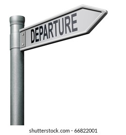 departure road sign arrow starting point of a journey depart departure icon departure button flight schedule isolated arrow travel schedule