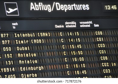 departure schedule time table at airport