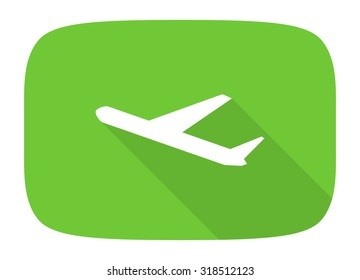 deparures flat design modern icon with long shadow for web and mobile app