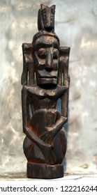 Depok, Indonesia - November 6, 2018:              Vintage Asmat Carved Sculpture from Asmat Tribe, Papua, Indonesia. Editorial Illustrative.