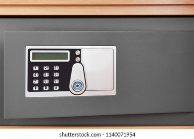 Deposit box with numeric code locker and security camera. Horizontal