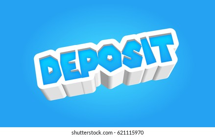 Deposit Text for Title or Headline. In 3D Fancy Fun and Futuristic style