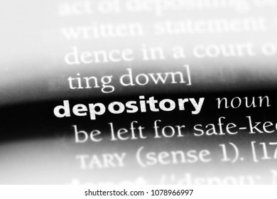 depository word in a dictionary. depository concept