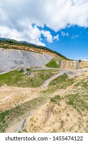 The deposits of Fumanya, an open-pit coal farm located at the base of the Ensija range in Figols, Spain