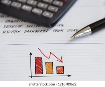 Depreciating graph on a notebook