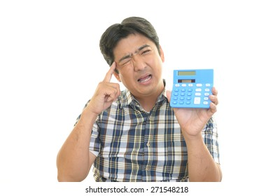 Depressed Asian man
