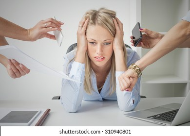 Depressed business woman