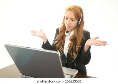 Depressed call center operator